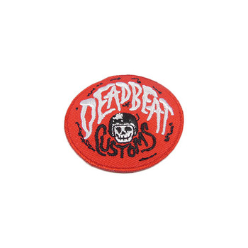"Deadbeat Customs - Red Patch 2"" Diameter"