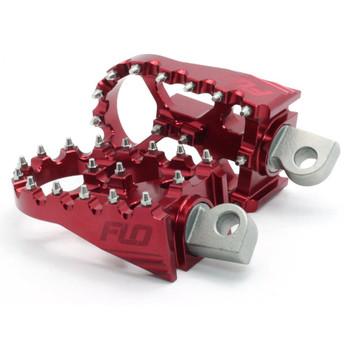Flo Motorsports - Harley Moto Style Pegs - Red