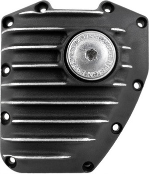 EMD - Ribbed Cam Cover fits: '01-Up Softail and Dyna Models - Black