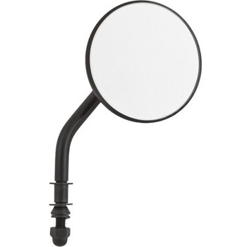 "HardDrive - Classic Round 3"" Mirror w/ 4"" Stem - Black"