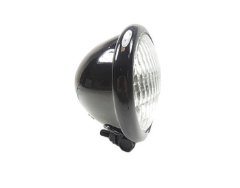 "Motorcycle Supply Co. - Black 4.5"" Headlight - Clear Lens"