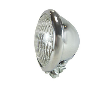 "Chrome 4.5"" Headlight - Clear Lens"