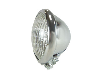 "Motorcycle Supply Co. - Chrome 4.5"" Headlight - Clear Lens"
