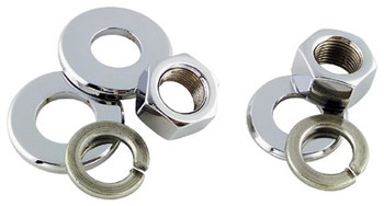 "Colony - Axle Nut and Washer Kits - Fits Front '73-'03 XL, '73-'85 FX 5/8""-18, Fits Rear '79-'04 XL, '73-'06 BT"