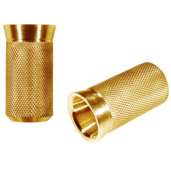 "Speed Merchant - Speed Shifter Peg - Gold Anodized - Fits: HD shift levers with 5/16""-24 thread"