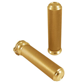"Speed Merchant -  1"" Speed Grips - Gold - Fits '84-'17 HD Models"