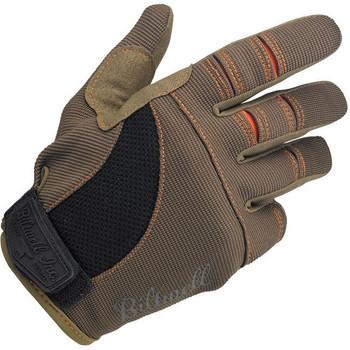 Biltwell Inc. - Motorcycle Riding Gloves - Brown/Orange