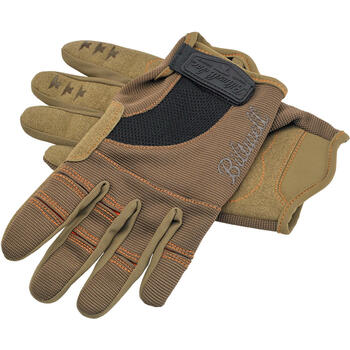 Biltwell Inc. - Motorcycle Riding Gloves - Brown/Orange