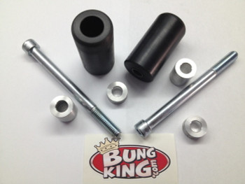 Bung King Upper Shock Mount Frame Sliders - Dyna, '04-Up Sportster