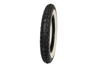 "Coker Tires - Replica Beck 4.50 x 18"" Wide White Wall"