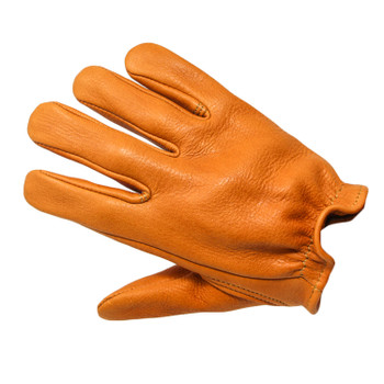 Deadbeat Customs Short Wrist Deerskin Leather Gloves - Tan