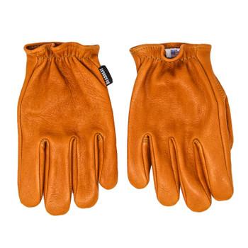 Deadbeat Customs Short Wrist Deerskin Leather Gloves - Tan