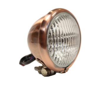 """Motorcycle Supply Co. - Copper 4.5"""" Headlight - Clear Lens"""