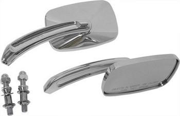 HardDrive - Rectangular Custom Die Cast Mirror - Chrome