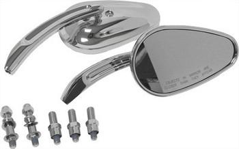 HardDrive - Tapered Custom Die Cast Mirror - Chrome