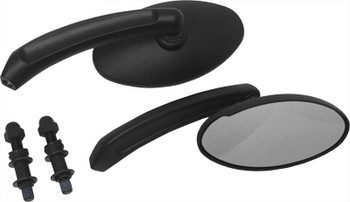 HardDrive - Oval Custom Die Cast Mirror - Black