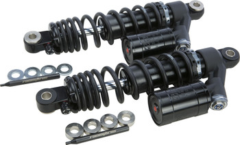 Racing Bros - Remote Reservoir Rear Shocks fits '91-'16 Sportster Models