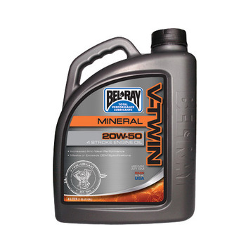 Bel Ray - V-Twin Mineral Engine Oil 20W-50 4L