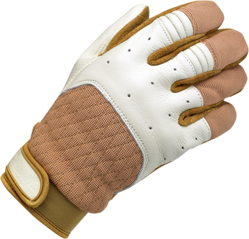 Biltwell Bantam Gloves - White/ Tan