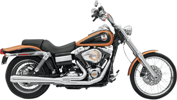 Bassani - Road Rage 2-into-1 Exhaust Systems Chrome, Long - Fits '06-'16 FXD/FXDWG With Forward or Mid Controls