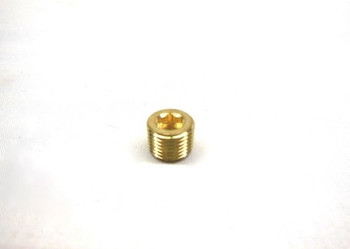 "Motorcycle Supply Co. - Countersunk Allen Pipe Plug 1/8"" NPT - Brass"