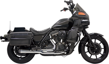 Bassani - Road Rage 2-into-1 Exhaust Systems Chrome, Short W/ Floorboards - Fits  '84-'94, '99-'00 FXR