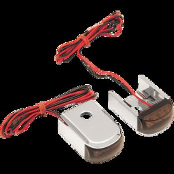Alloy Art - Fender Strut LED Marker Lights - Fits '91-'05 Dyna Glide - Chrome