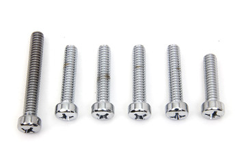 Colony - Cam Cover Screw Set fits Harley FL, FX (see desc.) - Chrome
