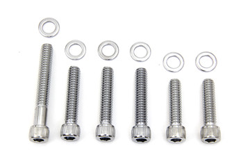 Colony - Cam Cover Allen Screws fits Harley FL, FX (see desc.) - Chrome