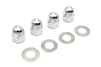 Colony - Rocker Arm Shaft Acorn Nut and Washer Kit - fits Harley FL, FX, and XL ( see desc.)
