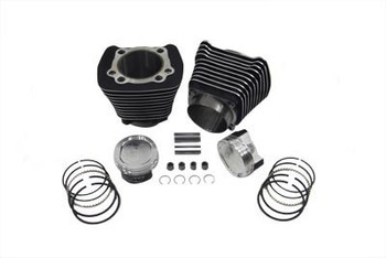 V-Twin - 883-1200cc Cylinder and Piston Conversion Kit fits '86-'03 XL - Black