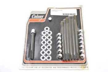 Colony - Acorn Engine Case Bolt Kit - Chrome fits Harley FL, FX, FXD (see desc.)