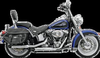 """Bassani - 3"""" Firepower Series Slip-on Muffler - Chrome fits Harley FXST, FXSB/SE, FXCW (see desc.)"""