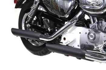 V-Twin - Slash Muffler Set - Black fits '04-Up XL Models