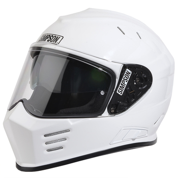Simpson Helmets - Ghost Bandit DOT Approved Helmet - Gloss White