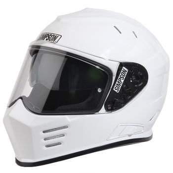 Simpson Helmets - Ghost Bandit DOT Approved Helmet - Gloss White