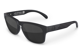 HeatWave Visual - Cruiser Sunglasses Stars and Stripes Black Ops - Black Lens
