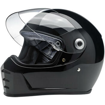 Biltwell Lane Splitter Full Face DOT & ECE Helmet - Gloss Black