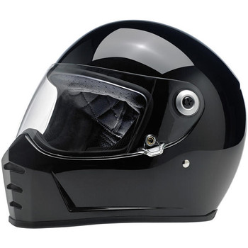 Biltwell Inc. - Lane Splitter Full Face DOT Motorcycle Helmet - Gloss Black