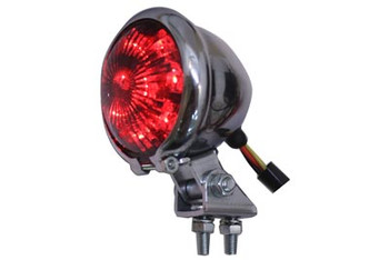 V-Twin LED Tail Light - Chrome w/ Red Lens