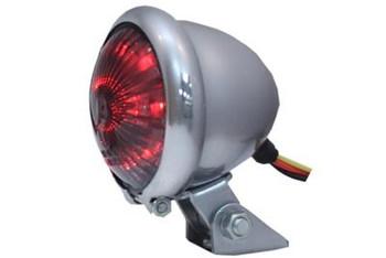 V-Twin LED Tail Light - Chrome w/ Smoked Lens