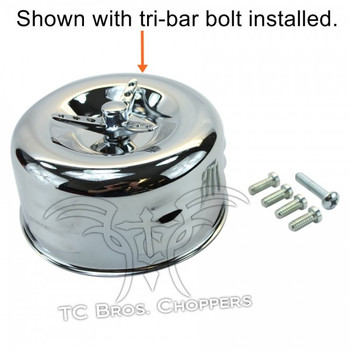 TC Bros Choppers - Chrome Louvered Air Cleaner for HD CV Carbs & EFI