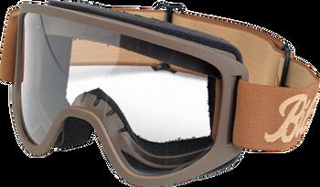 Biltwell Moto Goggles 2.0 - Script Chocolate