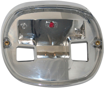 Custom Dynamics - Taillight Base Plate - Chrome fits '99-'16 HD Models w/ squareback style taillight (see desc.)