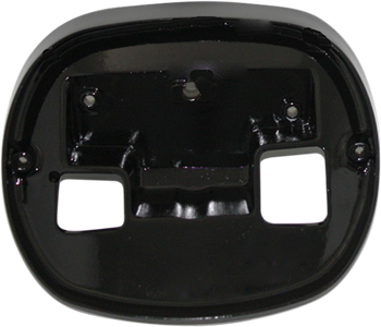 Custom Dynamics - Taillight Base Plate - Black fits '99-'16 HD Models w/ squareback style taillight (see desc.)
