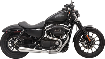 Bassani - Road Rage III 2-into-1 Exhaust System Stainless Steel - Fits '04-'16 XL