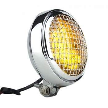 "Slim Caged 5"" Chrome Headlight - Amber Lens"