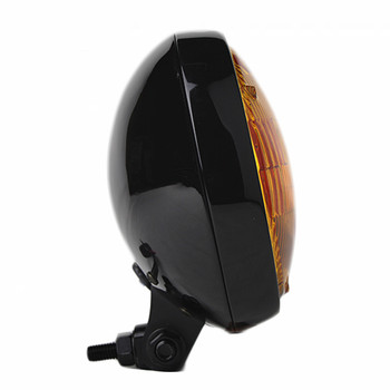 "Motorcycle Supply Co. - Slim 5"" Black Headlight - Amber Lens"