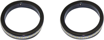 Customs Dynamics - Turn Signals With Daytime Running Lights - Black (Choose Size)