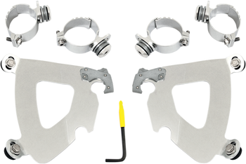 Memphis Shades Gauntlet Trigger-Lock Mount Kit - fits '06-'16 FXD/FXDC/FXDB/FXD35, '06-'09 FXDL (choose finish)